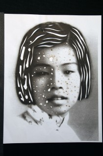 "Al Wong, ""Lost Sister #52"" © 2006, Photo collage"