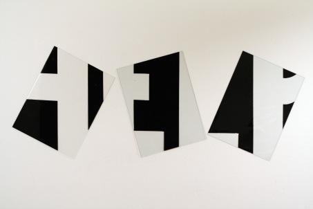 "Al Wong, ""Help"" ©2005, 2'6""H x 6'6""W, Plastic and acrylic."