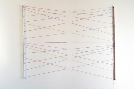 "Al Wong, ""Let Go,"" © 2015, 4'H x 5'W, monofilament and acrylic (overview)"
