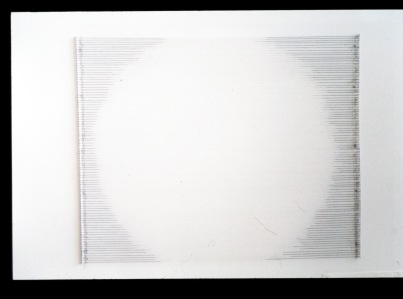 "Al Wong, ""Light Circle,"" © 2004, 36""H x 33""W, cotton string and acrylic."